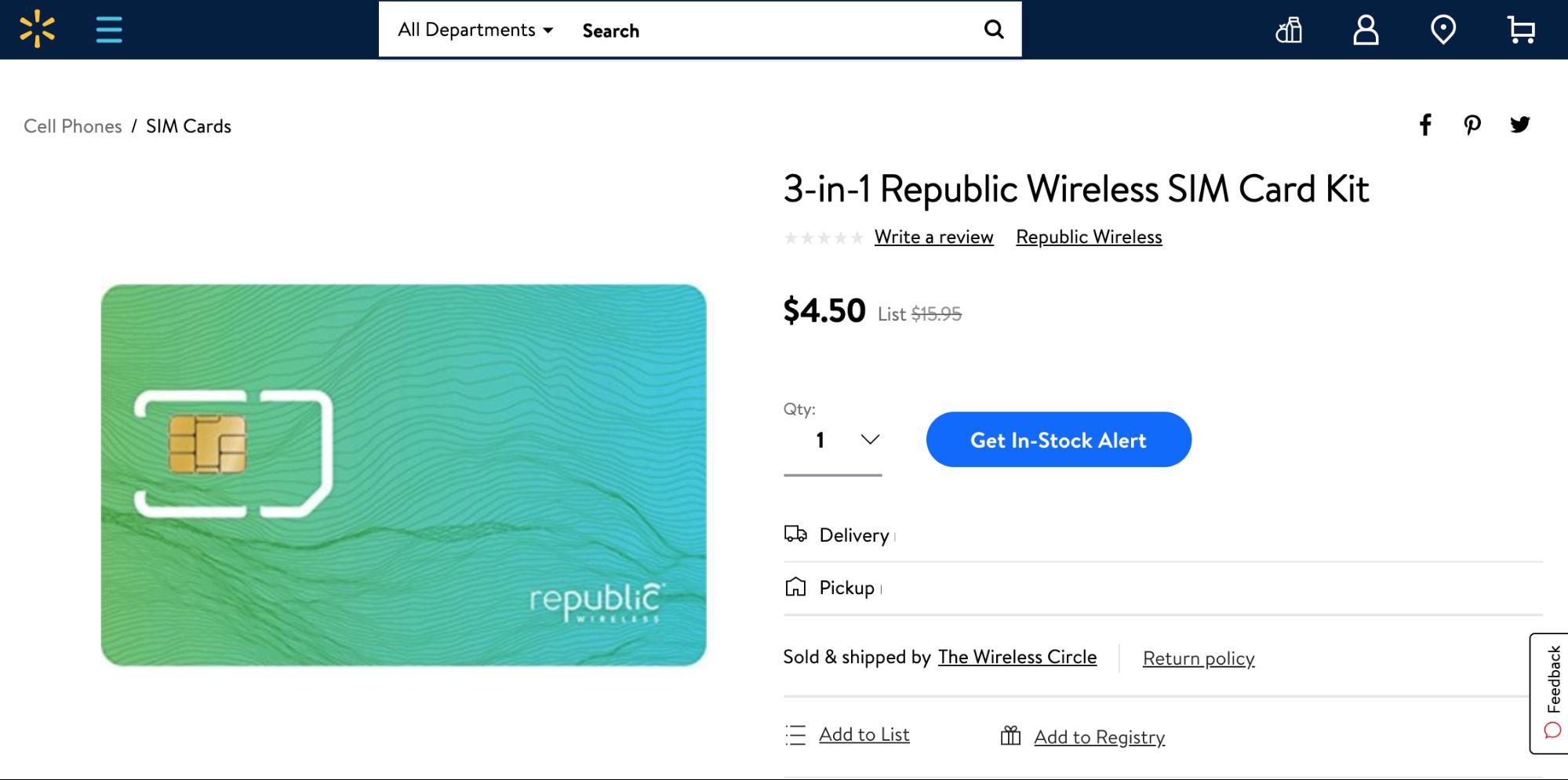 Trickut - Walmart wireless carrier plans - republic wireless sim card kit