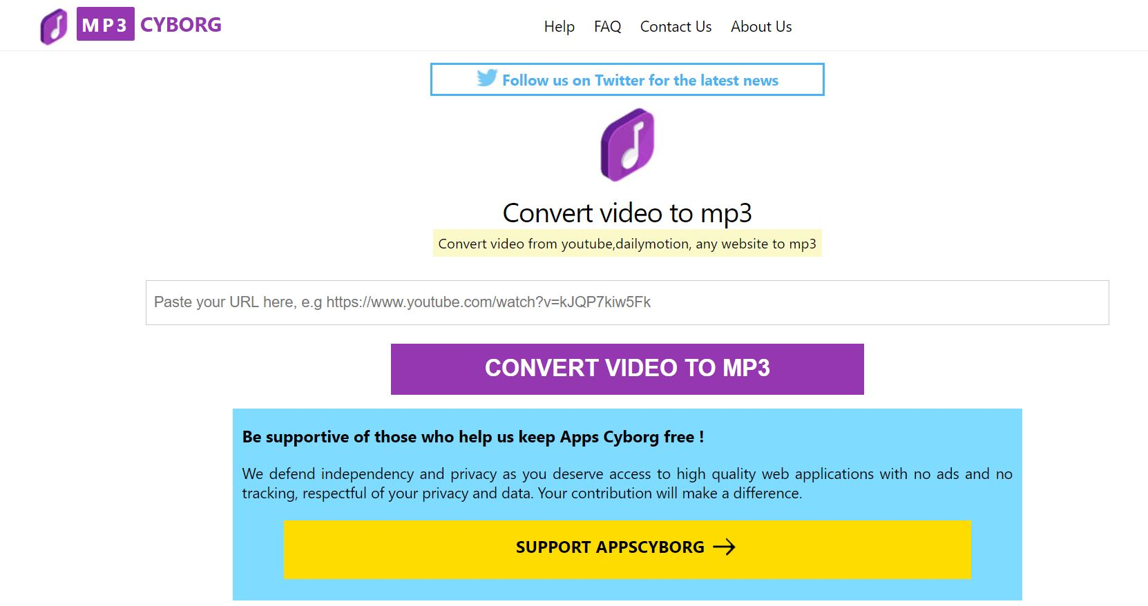 YouTube to MP3 - The Top 7 Best YouTube to MP3 Converters - mp3 cyborg.