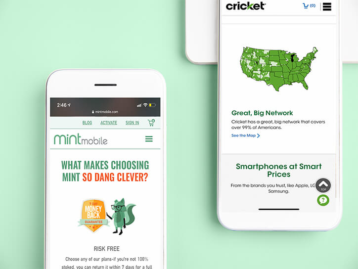 Comparing Mint Mobile vs Cricket for Price, Quality, and Coverage