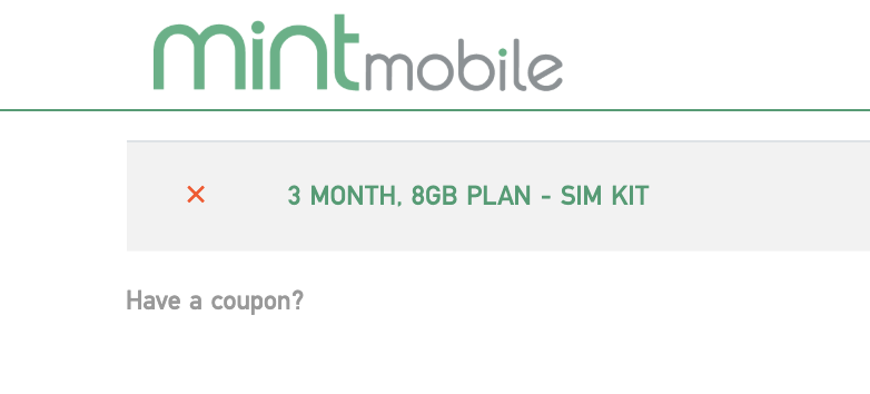 Mint mobile 3 month plan sim kit