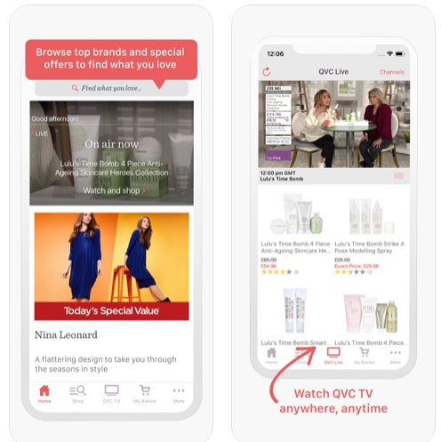 qvc mobile app browse top brands and special offers