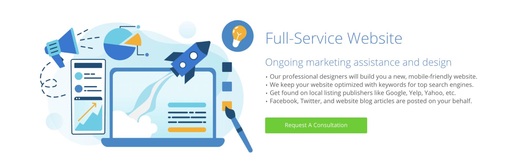 bluehost full service website