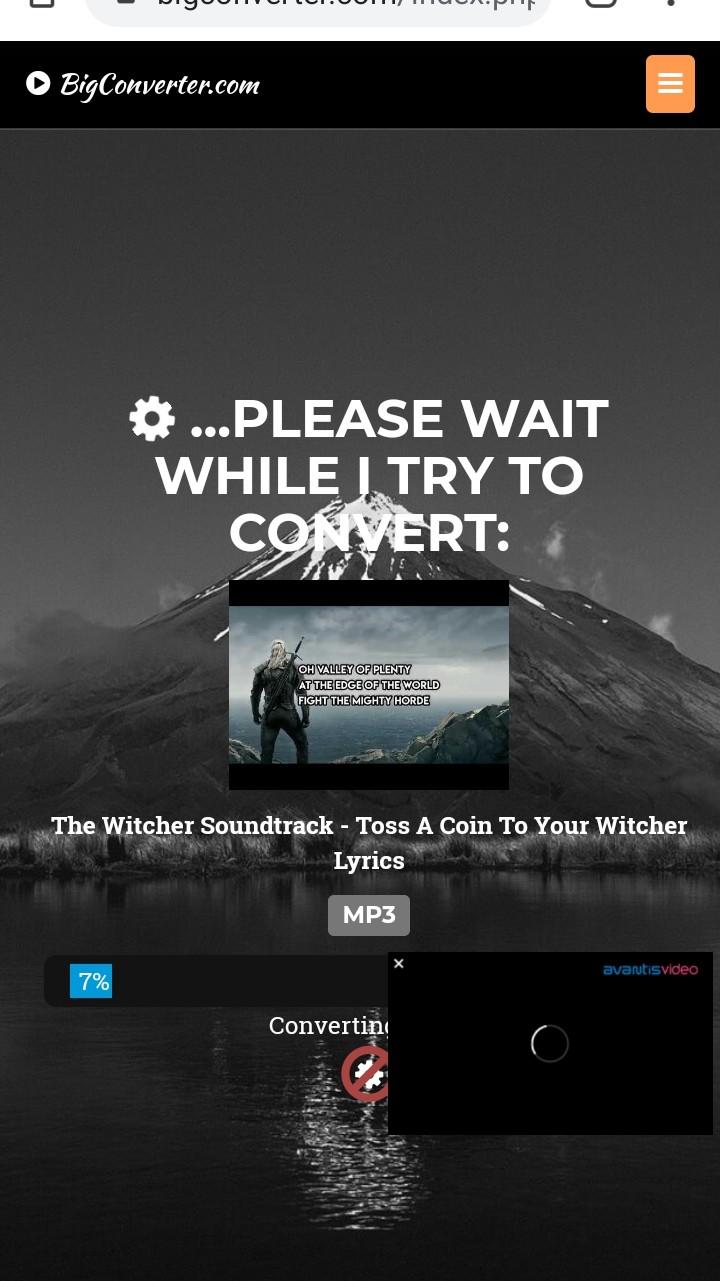 big converter wait while it converts