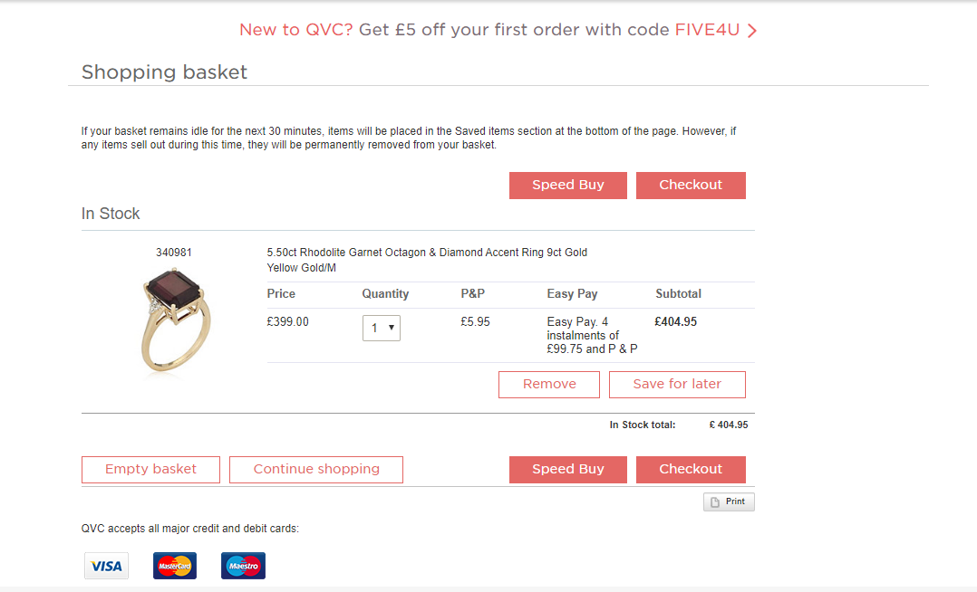 qvc rings price shopping