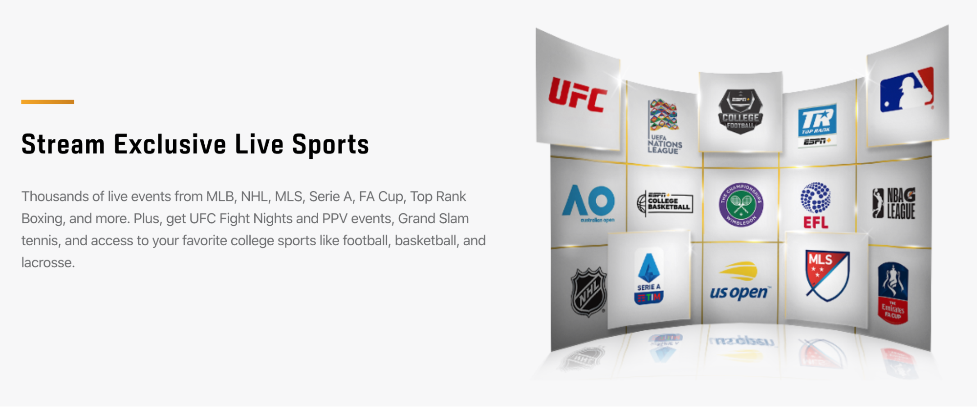 stream exclusive live sports espn plus