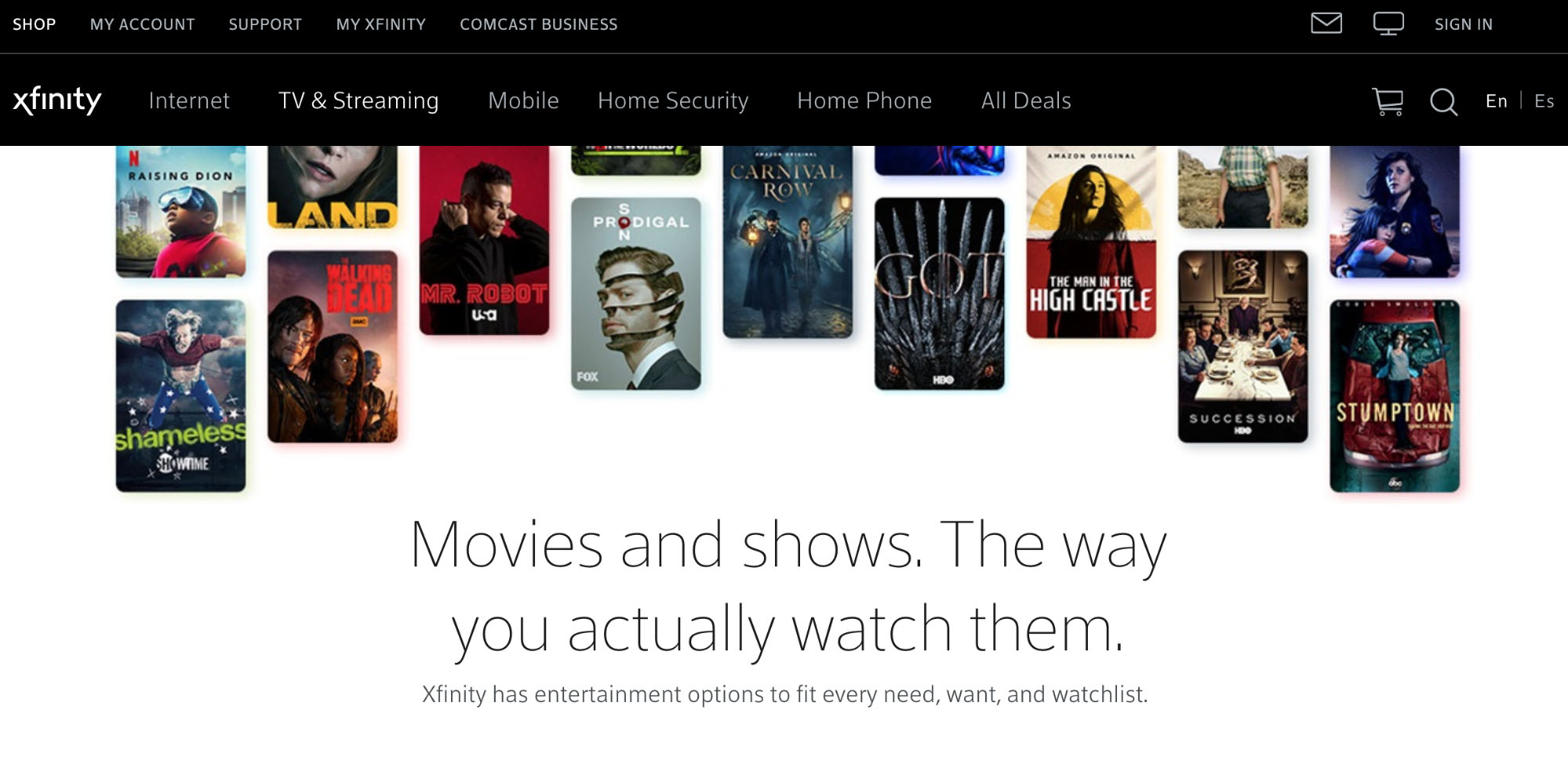 Xfinity - The Best Line-up of 123movies Alternative Websites