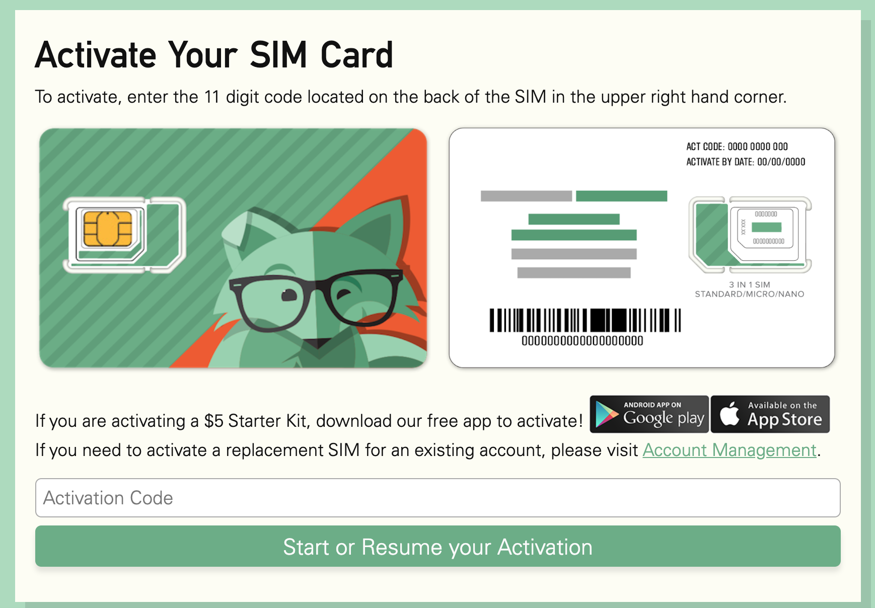 activate sim card mint mobile mint fox