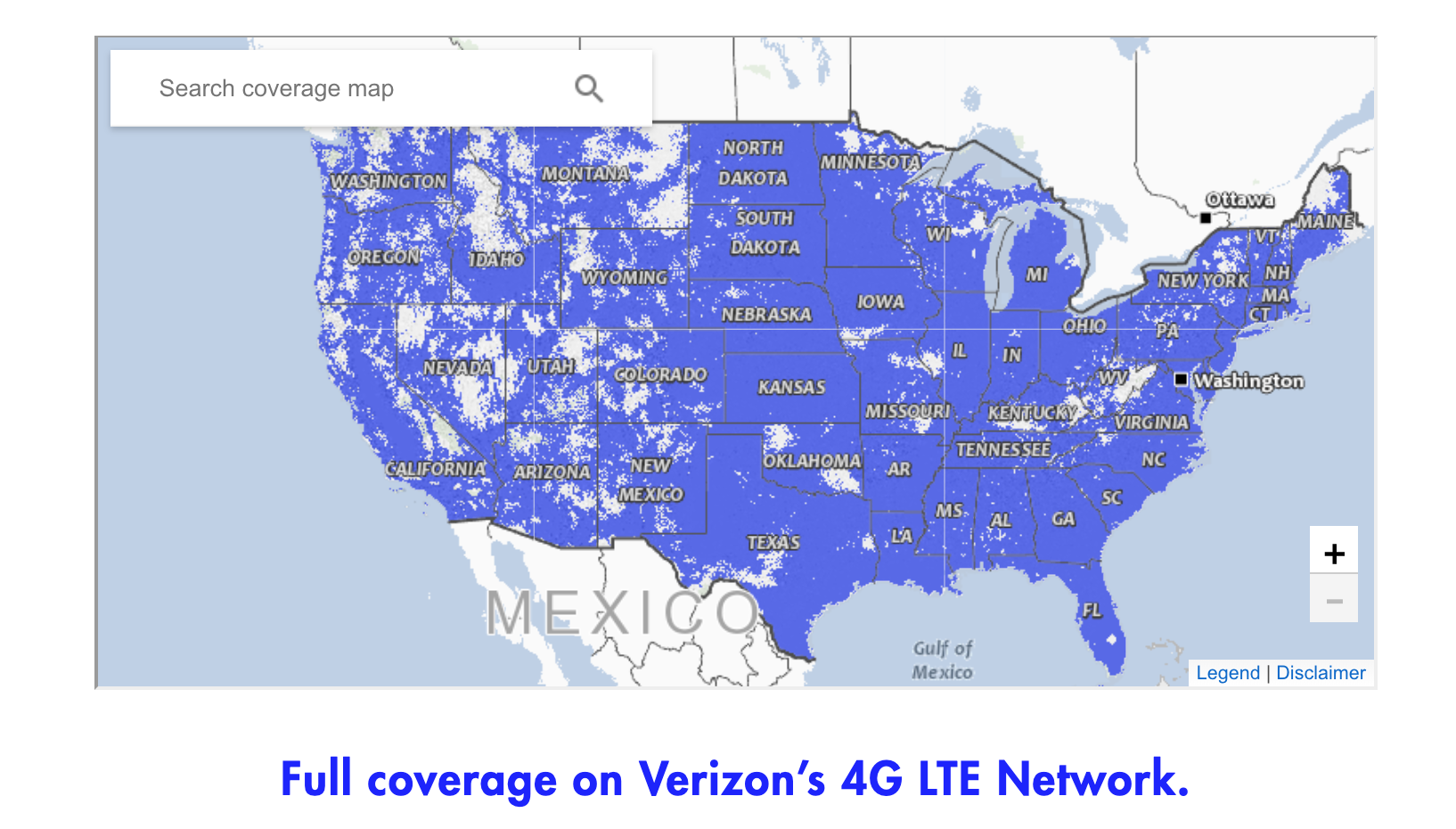 Visible Wireless coverage map