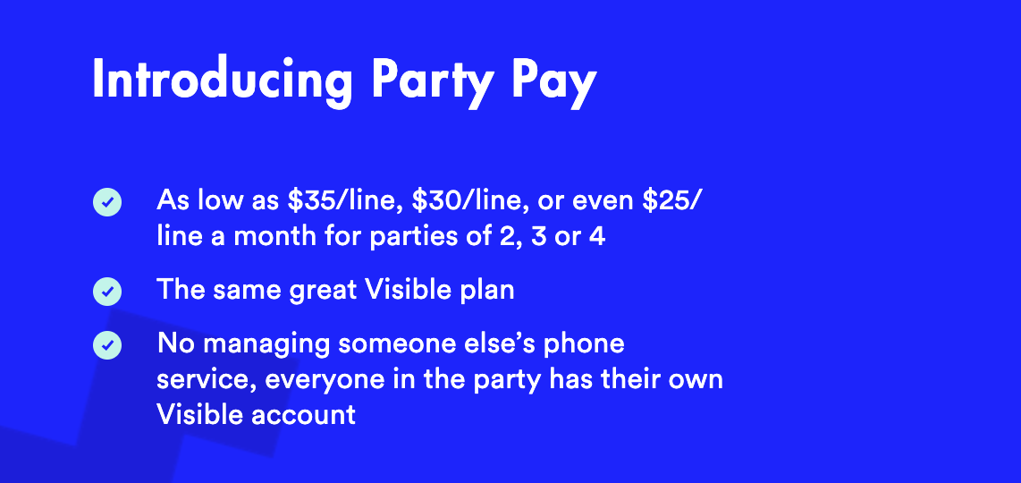 Visible Wireless cost - party pay