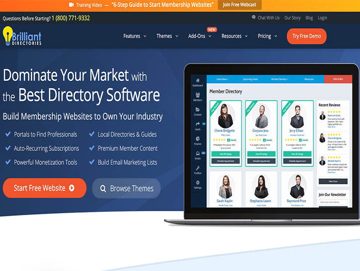 Brilliant Directories Review: The Best Way to Build Directory Websites?